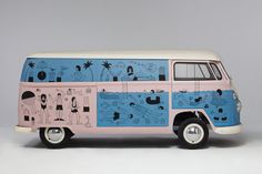 Dream Machine - Check out this beauty covered in the illustrations ofMartina Paukovafor Pull & Bear- ROAD TRIP!