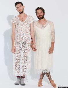 gay wedding ad for Stone Fox Bridal