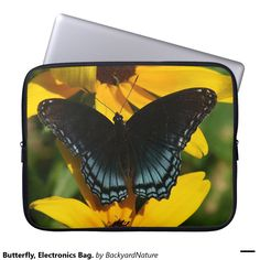 Butterfly, Electronics Bag. Computer Sleeve