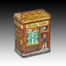 "Bentley's Of London Small House Shaped Tin ""Beverages Tea & Coffee Shop"""
