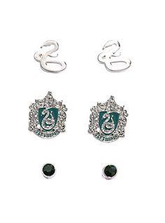 Harry Potter Slytherin Earring Set,