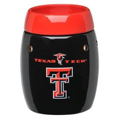 Texas Tech University Scentsy Warmer           The Texas Tech University Warmer is a Scentsy original. It's a full-size warmer—available in a black glossy finish—that features the double-T Texas Tech logo along with the masked Red Raider himself. Topped by a complementary red warmer dish, of course. It will not only look great among your team swag, it will freshen things up on game day