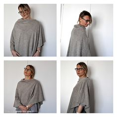 Single Seam Poncho tutorial + lightweight knit = super easy late winter/early spring getup.  Make it in a filmy sheer fabric for summer with a cami under...cool and easy!