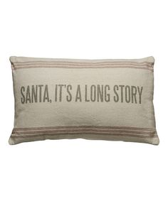 'Long Story' Linen Throw Pillow