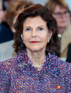 Queen Silvia of Sweden is seen during her visit of the St Nicholas Church on October 8 2016 in Leipzig Germany The Swedish royals are on the last of...