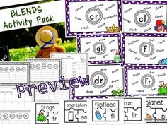 Phonics Blends Activity Pack by PollyPuddleduck - Teaching Resources - Tes Tes Resources, Reading Resources, Phonics Blends, Key Stage 1, Phonics Reading, A Classroom, Eyfs, Months In A Year, Working Area