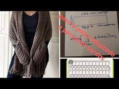 Crochet Wrap Pattern, Crochet Poncho Patterns, Crochet Tunic, Crochet Jacket, Freeform Crochet, Tapestry Crochet, Crochet Scarves, Easy Crochet, Crochet Clothes