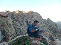 Manu , escalade à Red Rocks