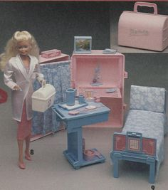 barbie play and go hospital/doctor's bag playset