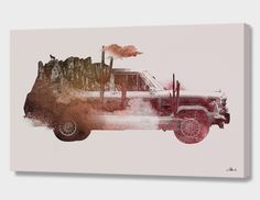 """""""Drive me back home 02"""", Numbered Edition Canvas Print by Robert Farkas - From $89.00 - Curioos"""