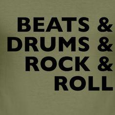 Tshirt Beats drums rocknroll T Shirts, Cool Shirts, Rocknroll, Slim Fit, Rock And Roll, Beats, Tee Shirts, Rock N Roll, T Shirt