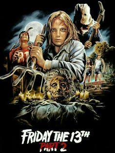 Friday the 13th part 2 horror movie poster Slasher