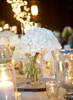 Beleuchtung Tisch Kerzen Windlichter silbern
