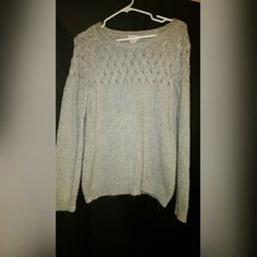 Knit long sleeve sweater size large Like new only worn once. No holes no stains. Mossimo Supply Co Sweaters Crew & Scoop Necks