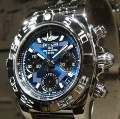 Breitling, my husband has this incredible watch with a beautiful navy hand made…