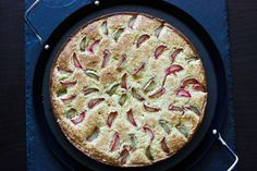 Norwegian rhubarb cake       rhubarb.... every summer we had the soup, the pudding, and the pie. w/strawberries. Wonderful. THank you