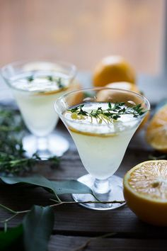 Meyer Lemon Gimlet with Thyme Simple Syrup | Feasting At Home