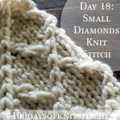 Video: How to knit the small diamonds knit stitch.