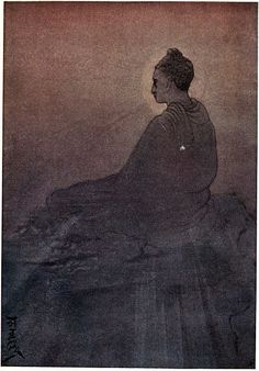 """""""The Victory of Buddha"""" by Abanindranath Tagore from """"Myths of the Hindus & Buddhists"""" (1914) via Wikimedia Commons."""