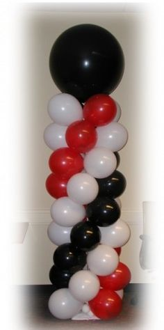 red black. and white decorations for a party - Google Search