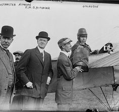 """1914 ~ """"Official Air Mail Pilot #1: Earl Ovington carried the first airmail in the United States."""