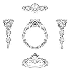 Pretty little details ✨ #sketch #jewelrydesign