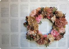 Coffee filter wreath