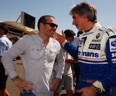 Jacques Villeneuve and Damon Hill Photo - Bahrain Grand Prix 2010 Damon Hill, Red Bull Racing, F1 Racing, Sport Cars, Race Cars, Formula One Champions, Formula 1 Gp, Indy 500 Winner, Watch F1