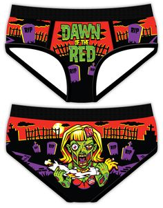 Dawn of the Red Period Panties by Anthony Hall, via Behance