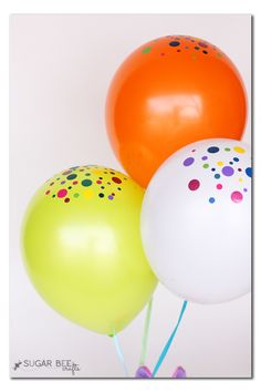 Confetti Balloons with Vinyl