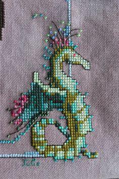dragonfly cross stitch border patterns - Google Search