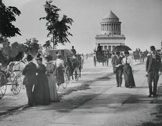 New York City: Riverside Drive in 1897 with Grant's Tomb in the background.