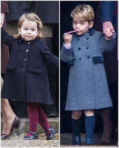 Princess Charlotte and Prince George, Christmas Day 2016