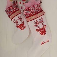 Personalised Reindeer Girl Christmas Stocking
