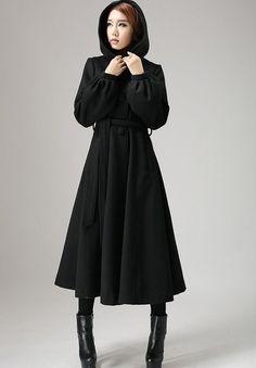 Asymmetrical skirt Wool coats and Collars on Pinterest
