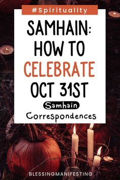 Samhain Correspondences: The End of the Harvest - Blessing Manifesting Wiccan Sabbats, Wicca Witchcraft, Magick, Samhain Decorations, Samhain Traditions, Samhain Halloween, Halloween House, Halloween Ideas, Samhain Ritual