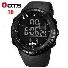 ОТС Цифровые Часы мужчины спорт 50 М Профессиональный Водонепроницаемый Кварцевые большой циферблат часов военная Световой наручные часы 2016 мода(China (Mainland))