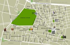 Mapa del centro de Coyoacán