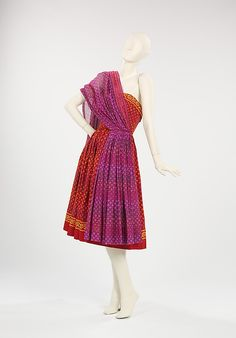 Carolyn Schnurer (American, 1908–1998). Sundress, 1950. . The Metropolitan Museum of Art, New York. Brooklyn Museum Costume Collection at The Metropolitan Museum of Art, Gift of the Brooklyn Museum, 2009; Gift of Carolyn Schnurer, 1951 (2009.300.145)
