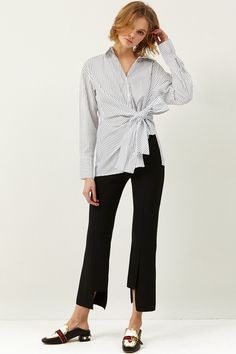 Clara Cut Out Slacks Discover the latest fashion trends online at storets.com