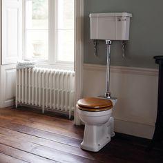 Burlington Medium Level Toilet - White Ceramic Profile Large Image