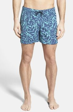 The+Rail+'Hydrus'+Print+Mesh+Lined+Swim+Trunks+(2+for+$50)+available+at+#Nordstrom