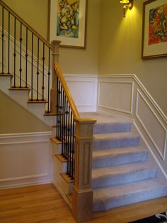 Not too chunky. Iron Balusters, My House, Entryway, New Homes, Stairs, Staircases, Pattern, Diy, Home Decor