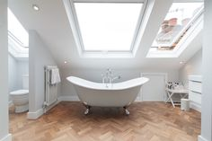Add Skylights to Bring Natural Light in 22 Different Bathroom Designs