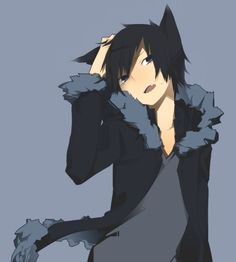 Tags: Anime, Blue Background, Durarara!!, Orihara Izaya, Ciel Arc