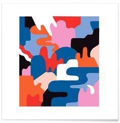 Kolor 3 en Affiche premium par Yeye Weller | JUNIQE