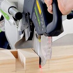 When looking for a good miter saw, you can never go wrong with the Festool Kapex KS 120 sliding compound miter saw. This saw provides with an accurate way of cutting lumber effortlessly. Sliding Compound Miter Saw, Compound Mitre Saw, Festool Kapex Ks 120, Chop Saw, Wood Tools, Dust Collection, Power Tools, Woodworking Shop, Electrical Tools