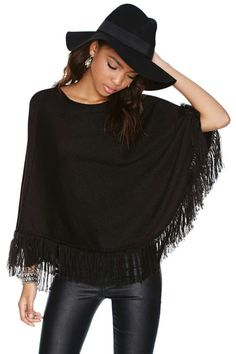 Cristina Poncho | Shop Sale at Nasty Gal