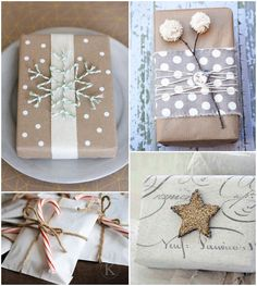 christmas wrapping ideas ~ festive Source by benmeri Creative Gift Wrapping, Wrapping Ideas, Creative Gifts, Wrapping Gifts, Wrapping Papers, All Things Christmas, Christmas Crafts, Christmas Decorations, Rustic Christmas