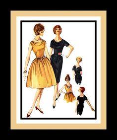 Vintage 1966 Cocktail Dress Sewing Pattern by FarfallaDesignStudio, $14.00